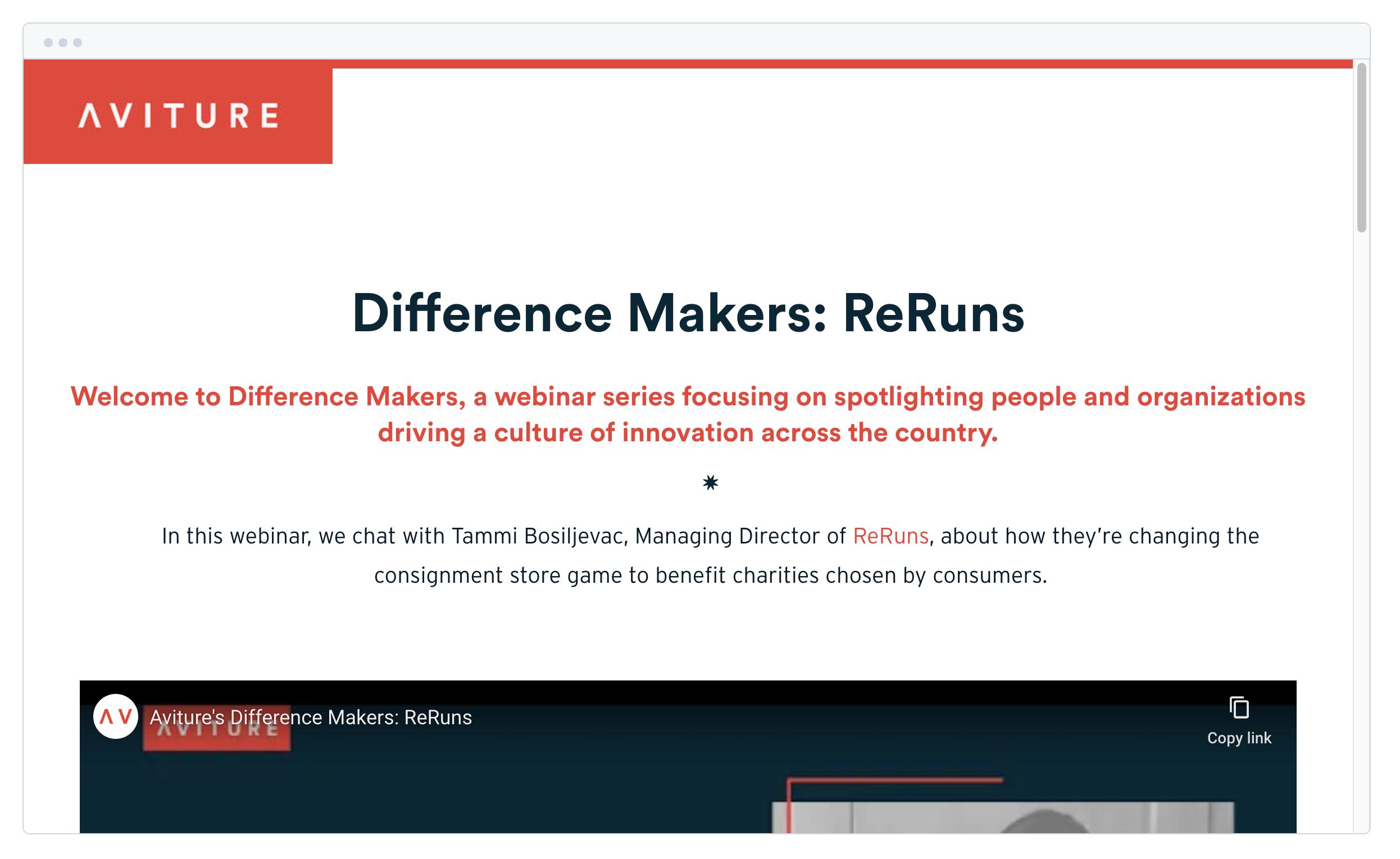 Difference Makers: Meet Tammi Bosilijevac, Managing Director of ReRuns